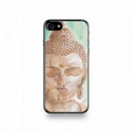 Coque Iphone X motif Buddha Marron Fond Vert