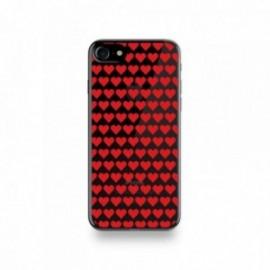Coque Iphone X motif Coeurs Rouge