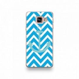 Coque Alcatel A3 XL motif Bleu Ciel Sur Fond Bleu Turquoise