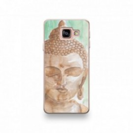 Coque Alcatel A3 XL motif Buddha Marron Fond Vert