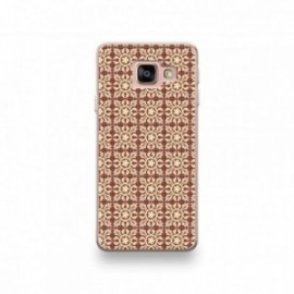 Coque Alcatel A3 XL motif Carreaux De Ciment Décor Normandie Marron