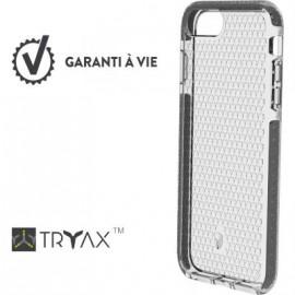 Coque iPhone 6 Plus / 6S Plus / 7 Plus / 8 Plus renforcée Force Case Life Transparente et gris foncé