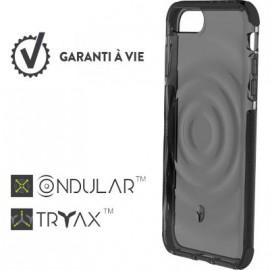 Coque iPhone 6 Plus / 6S Plus / 7 Plus / 8 Plus renforcée Force Case Urban Transparente fumé et gris foncé