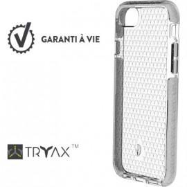 Coque iPhone 6  / 6S  / 7  / 8  renforcée Force Case Life Transparente et gris clair