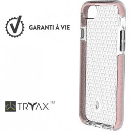 Coque iPhone 6  / 6S  / 7  / 8  renforcée Force Case Life Transparente et rose