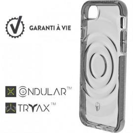 Coque iPhone 6  / 6S  / 7  / 8 renforcée Force Case Urban Transparente et gris clair