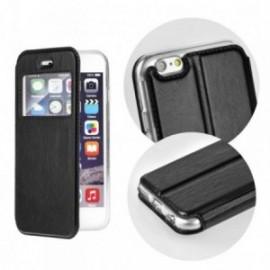 Etui Iphone 8 plus portefeuille vision noir