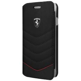 Etui iphone 6 plus / 6s plus / 7 plus / 8 plus Ferrari folio Heritage cuir noir
