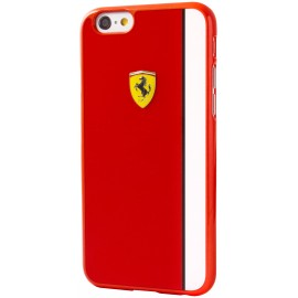Coque iphone 6 plus / 6s plus Ferrari Paddock glossy rouge