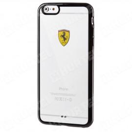 Coque iphone 6 plus / 6s plus Ferrari transparente et contour noir