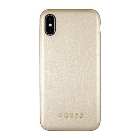 Coque iPhone X Guess Iridescent dorée