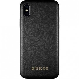 Coque iPhone X rigide Guess Iridescent noire