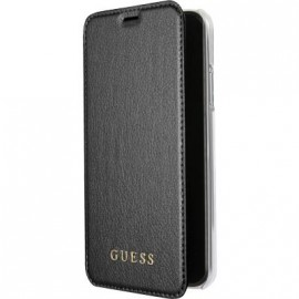 Etui iPhone X folio Guess noir