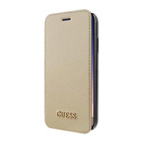 Etui iPhone X folio Guess doré