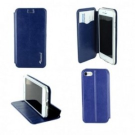Etui Iphone 7 folio book bleu nuit