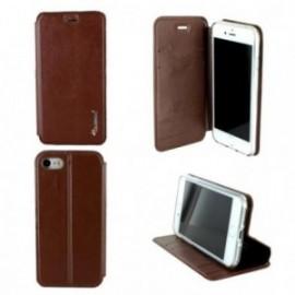 Etui Iphone 7 folio book marron