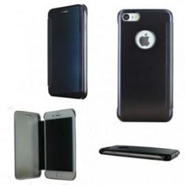 Etui Iphone 7 cristal view noir