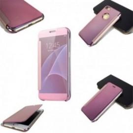 Etui Iphone 7 cristal view fuchsia