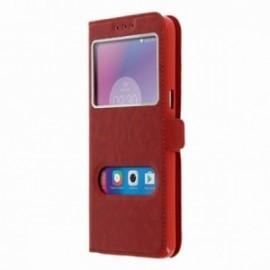 Etui Lenovo K6 Double vision rouge