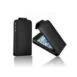 Housse iphone 4 et 4s simili cuir noir