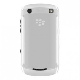Coque Blackberry curve 9360 blanc transparent