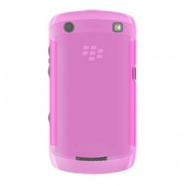 Coque Blackberry curve 9360 rose transparent