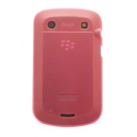 Coque Blackberry bold 9900 rose transparente