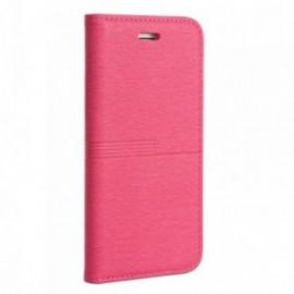 Etui Iphone X Folio rose grainé