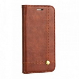 Etui Iphone X Folio class marron
