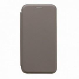 Etui Iphone X folio gris intérieur gel