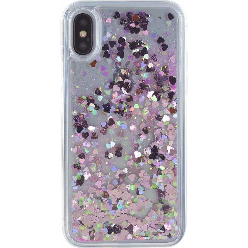 coque iphone x paillette liquide
