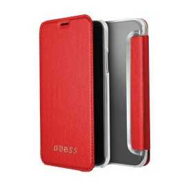 Etui iPhone X folio Guess rouge