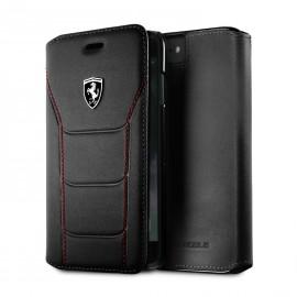 Etui iphone X Ferrari Heritage 488 folio cuir noir