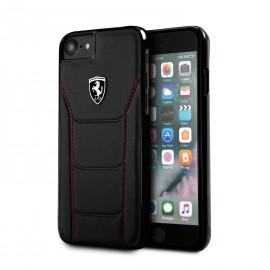 Coque Apple iPhone X Ferrari Heritage 488 cuir noir
