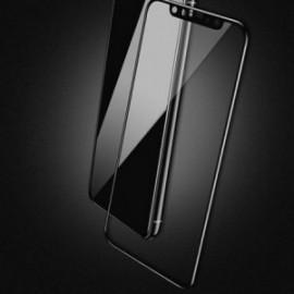 Film Iphone X en verre trempé incurvé contour noir