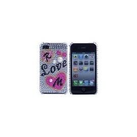 Coque iphone 4&4s strass love