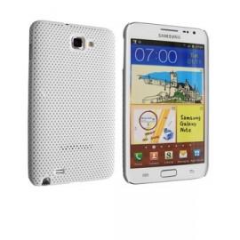 Coque Samsung galaxy note perforée blanche
