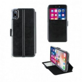 Etui Iphone X folio vision noir