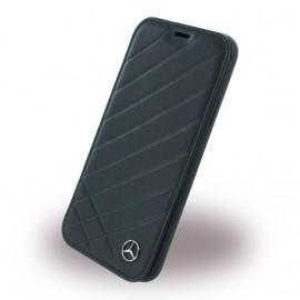Etui iPhone X Mercedes Benz Pattern II folio noir
