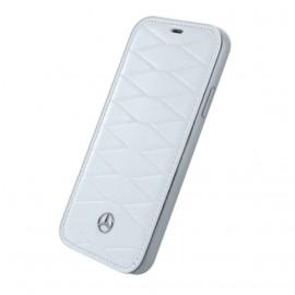 Etui iPhone X Mercedes Benz Pattern III folio blanc