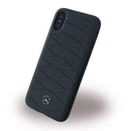 Coque iPhone X Mercedes Benz Pattern III noire