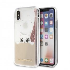 Coque iPhone X Karl lagerfeld Peek-A-Boo