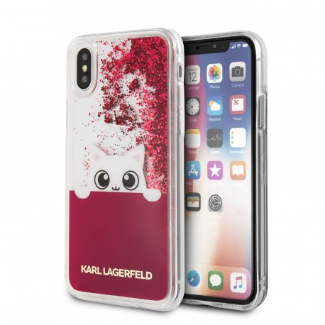 Coque iPhone X Karl lagerfeld Peek-A-Boo