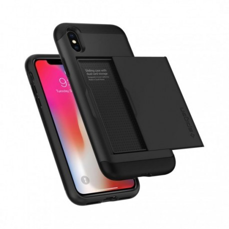 coque iphone xr porte carte spigen