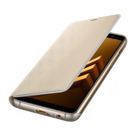 Etui Galaxy A8 A530 2018 samsung folio Neon EF-FA530PF doré d'origine Samsung
