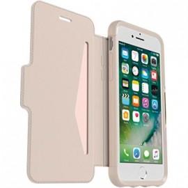 Etui iPhone 7/ iphone 8 folio Strada Otterbox en cuir beige