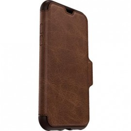 Etui iPhone X folio Strada Otterbox en cuir marron