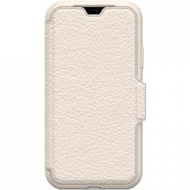 Etui iPhone X folio Strada Otterbox en cuir beige