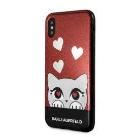 Coque iPhone X Karl lagerfeld Valentine Choupette