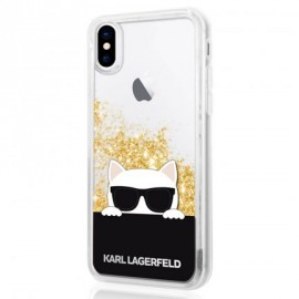 Coque iPhone X Karl lagerfeld Choupette Sunglasses